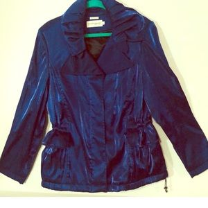 Hilary Radley Blue Trench Coat L